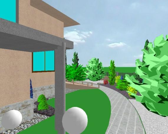 Záhrada rodinného domu 10