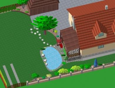 Záhrada rodinného domu 13