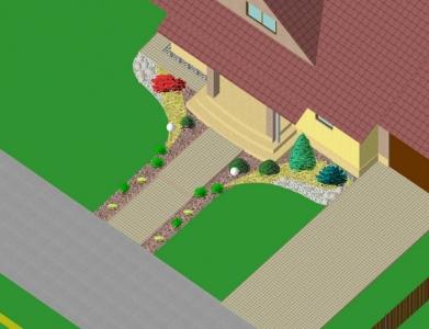 Záhrada rodinného domu 3